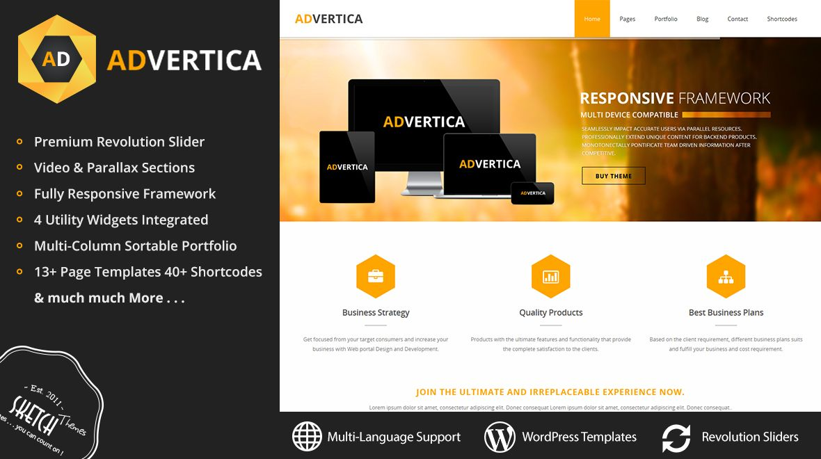 advertising agency responsive wordpress theme - Teras.businessresults.co