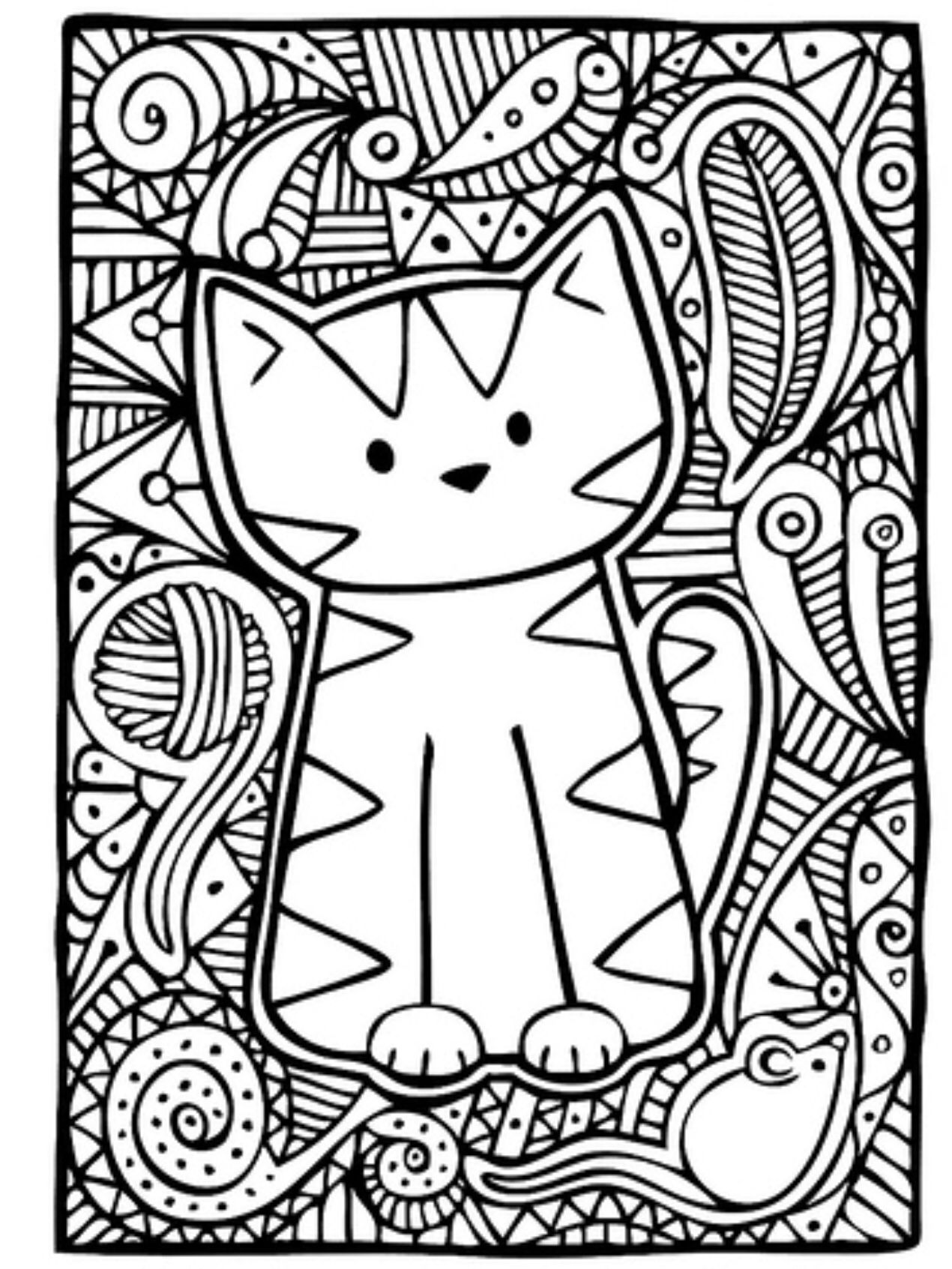 Quatang Gallery- Kleurplaat Poes Cute Coloring Pages Cat Coloring Page Animal Coloring Pages