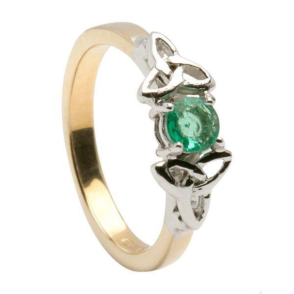 two tone gold emerald engagement ring Irish Weddings