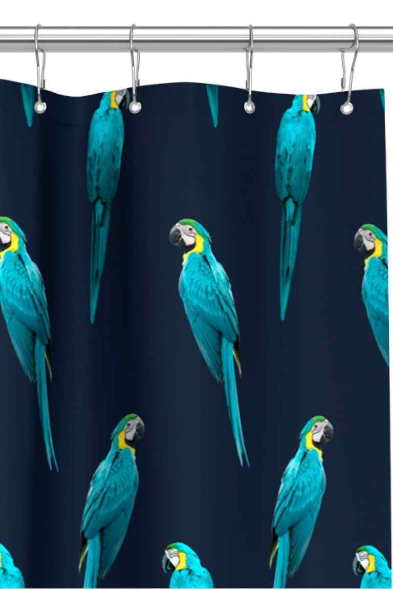 Printed Shower Curtain Shower Curtain In Water Repellent