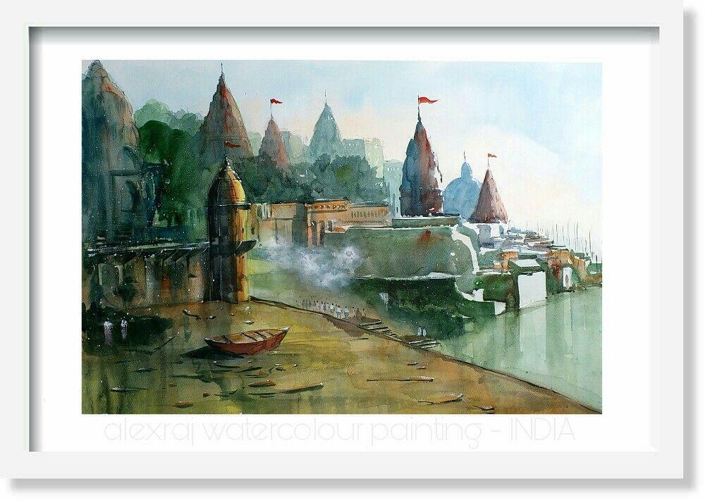 Alexraj | watercolour | painting | Artist | varanasi | INDIA ...