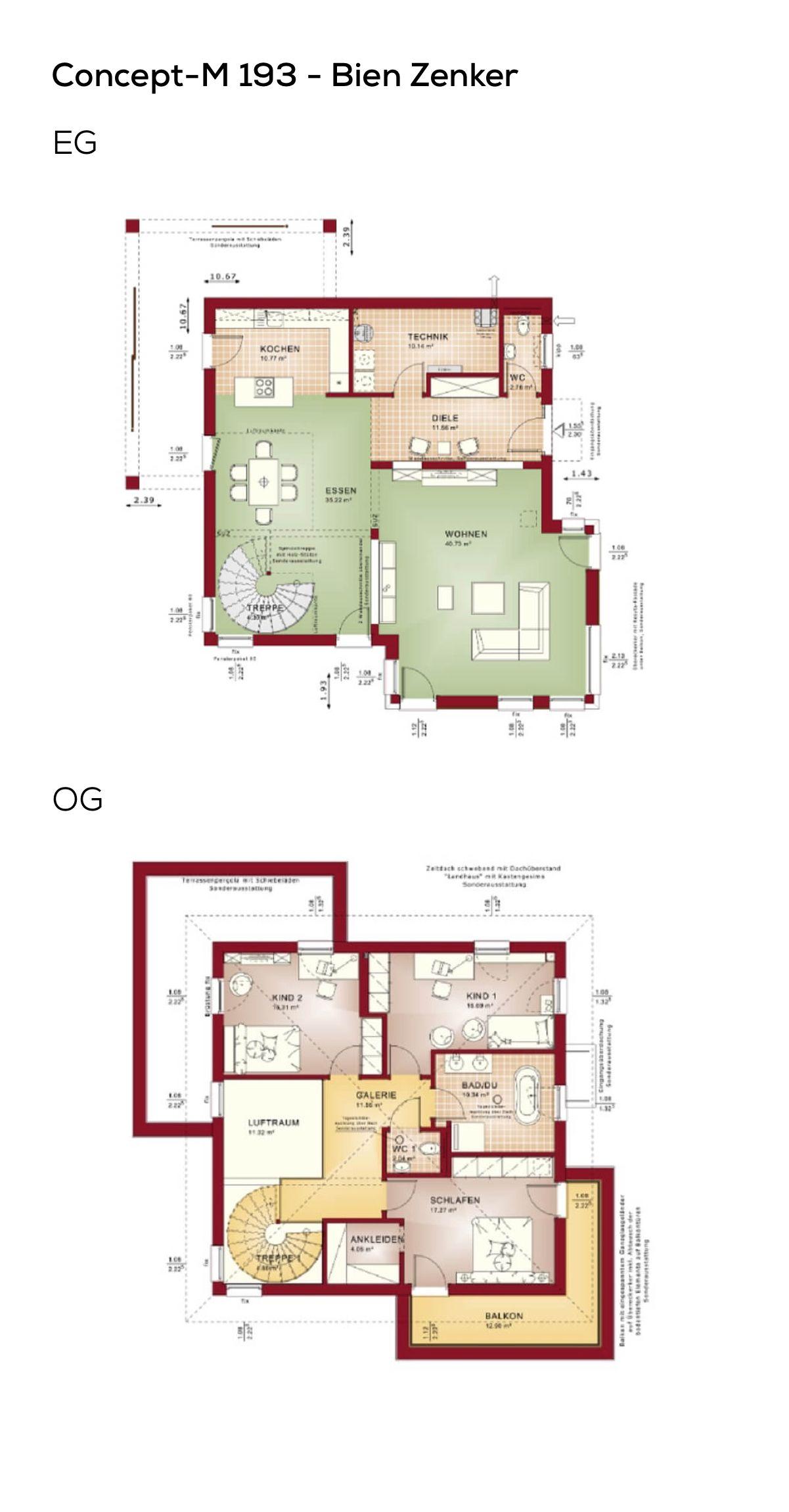 Grundriss Stadtvilla modern mit Galerie & Walmdach
