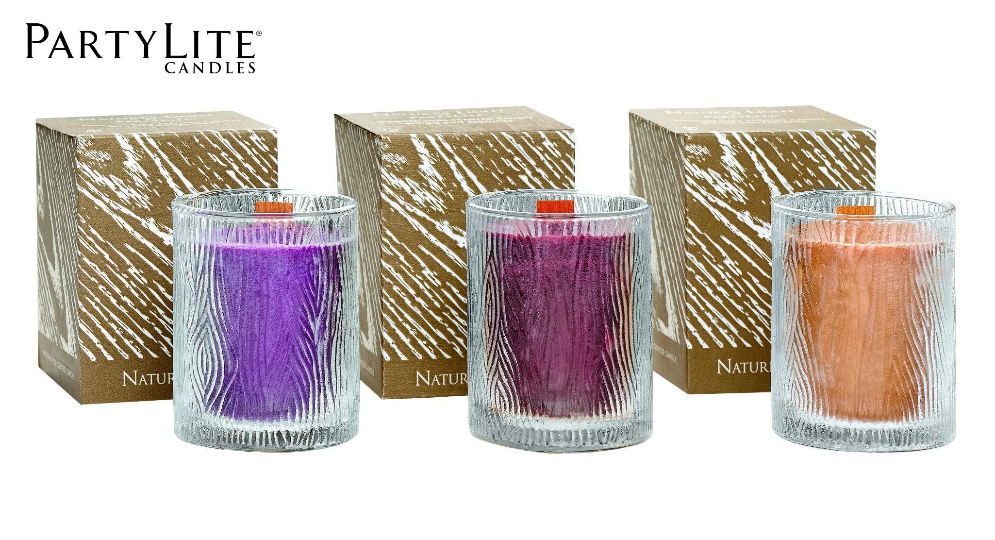 pots bougie nature 39 s light by partylite aussi. Black Bedroom Furniture Sets. Home Design Ideas