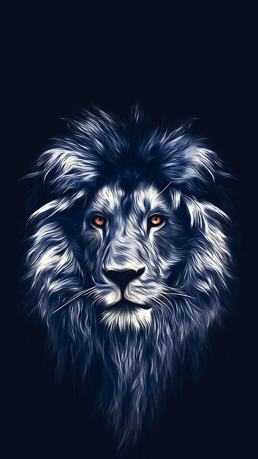 Lion Face Art iPhone Wallpaper Lion wallpaper, Lion