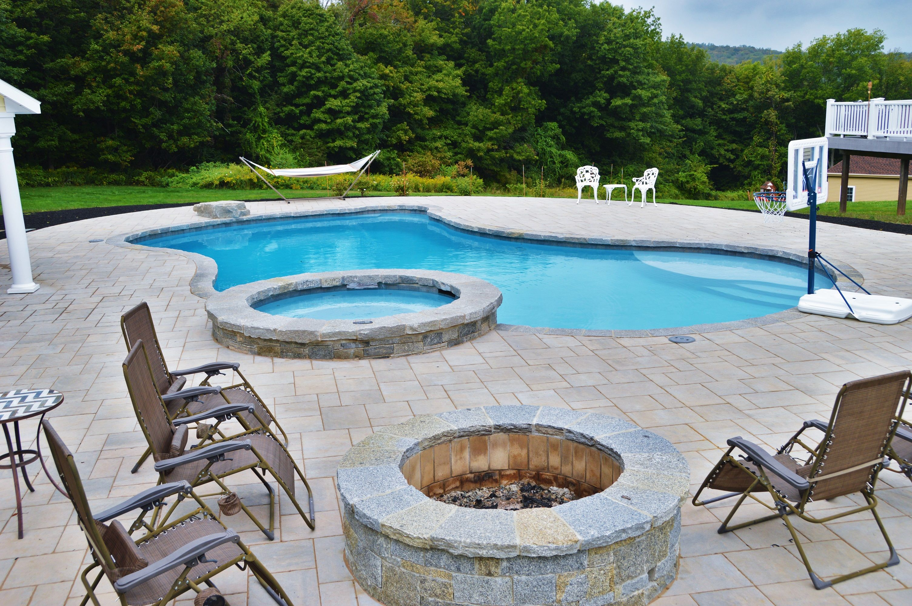 Inground Gunite Swimming Pool Builder Ct Aqua Pools Swimming