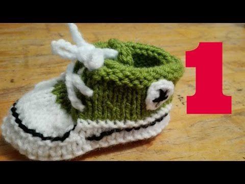 Zapatillas Bebe Tejidas Dos Agujas How To Knit Baby Shoes Zapatillas De Bebe Converse Para Bebé Tejer Dos Agujas