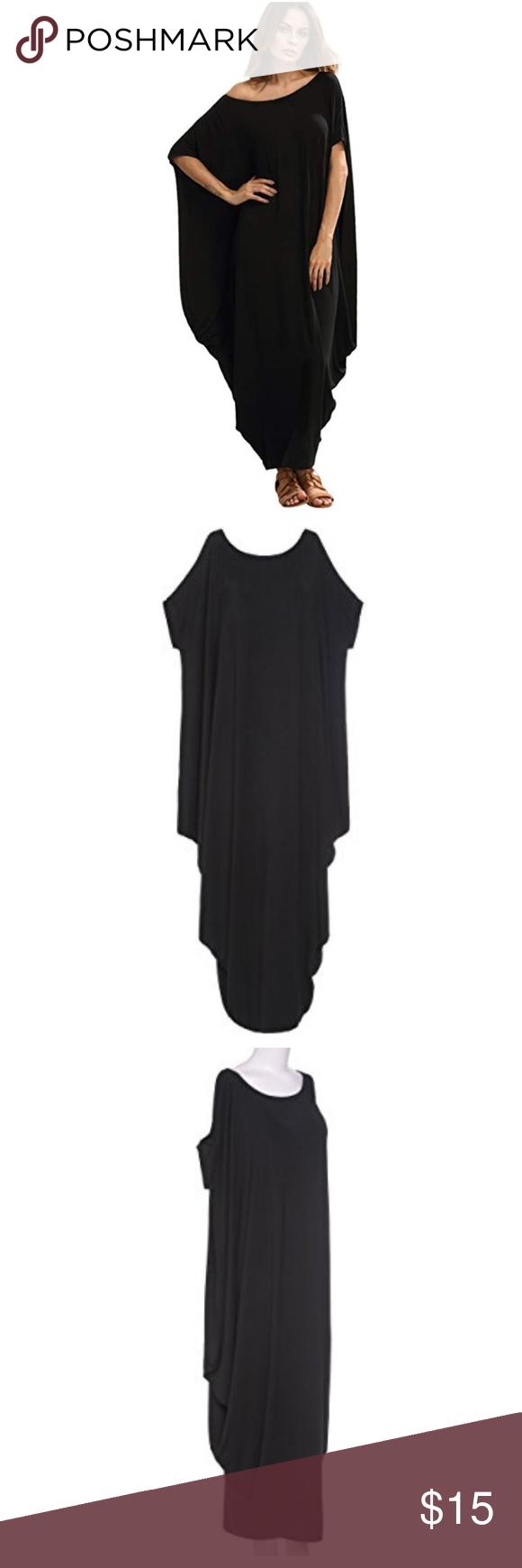 9249ef5f49c Women s Boho One Off Shoulder Caftan Sleeve Harem Women s Boho One Off  Shoulder Caftan Sleeve Harem Maxi Dress Sz Xl Dresses Maxi