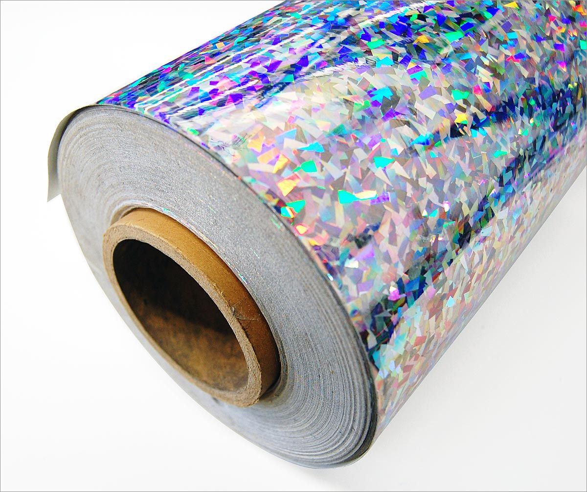 Holographic Sparkles Rainbow Colors 1 Inch x 25 ft 6 Glittering Vinyl Tapes