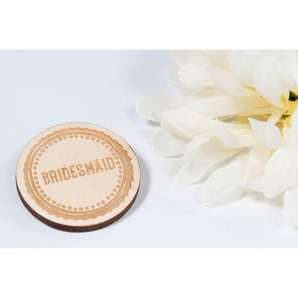 Wedding Morning Gifts For Bride: Mother Of The Bride Badge Moustache Engraved (Bespoke