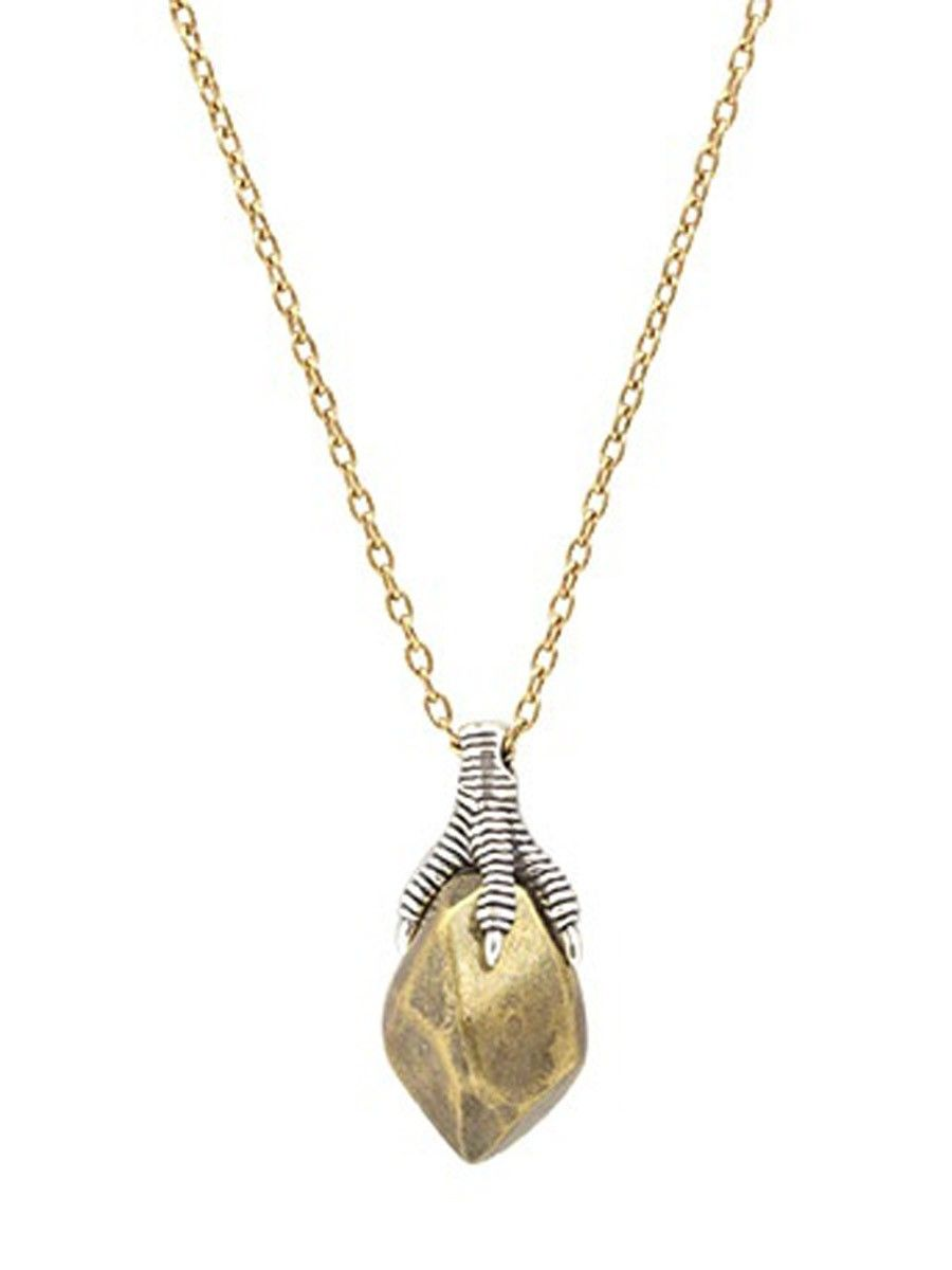 House of harlow talon and metal stone pendant necklace house of