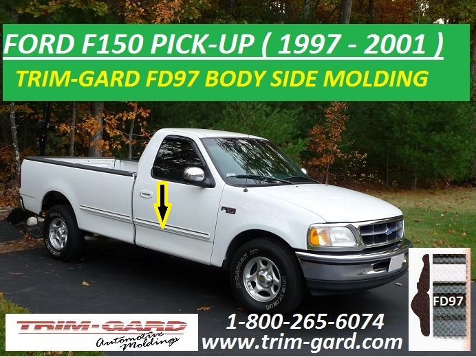 1997 1998 1999 2000 2001 Ford F150 Pick Up Body Side Molding Trim Gard Manufactures The Ford F150 Pick Up Body Side Molding Moldings And Trim Ford F150 F150