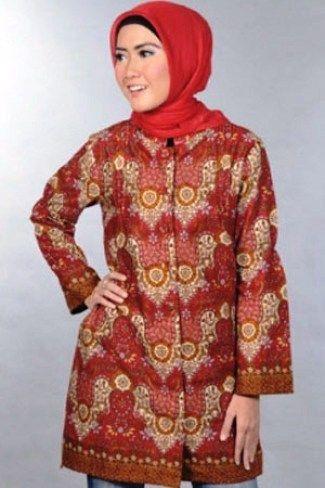 Modern Yang Mantap Dan 40 Model Baju Batik atasan Wanita ...