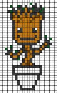Groot Pixel Art Yahoo Image Search Results Perler Beads