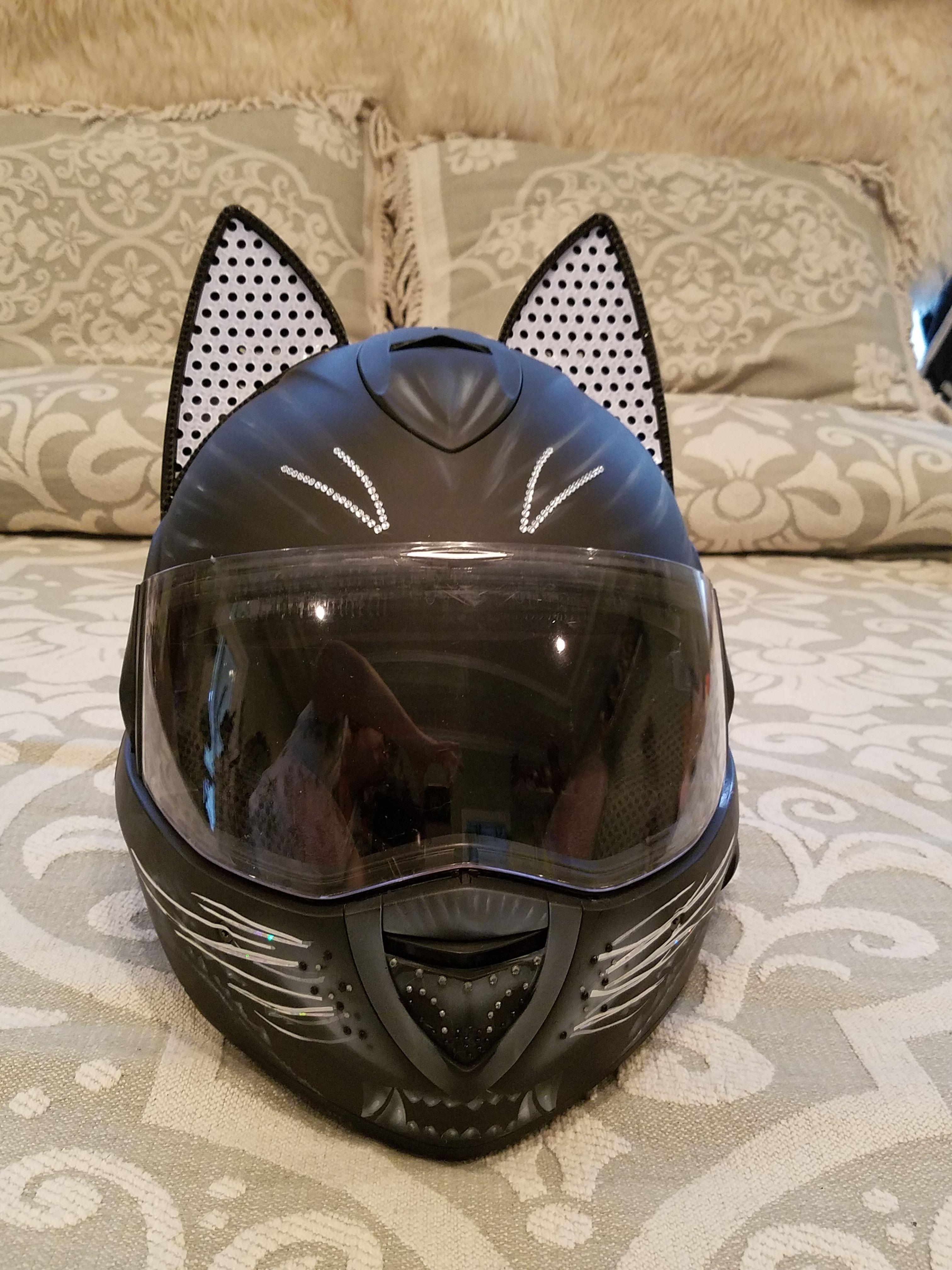 e4c72f6160e Cat Ear Shark Motorcycle Helmet