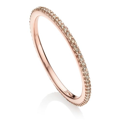 Rose Gold Signature Diamond Ring Diamond Monica Vinader