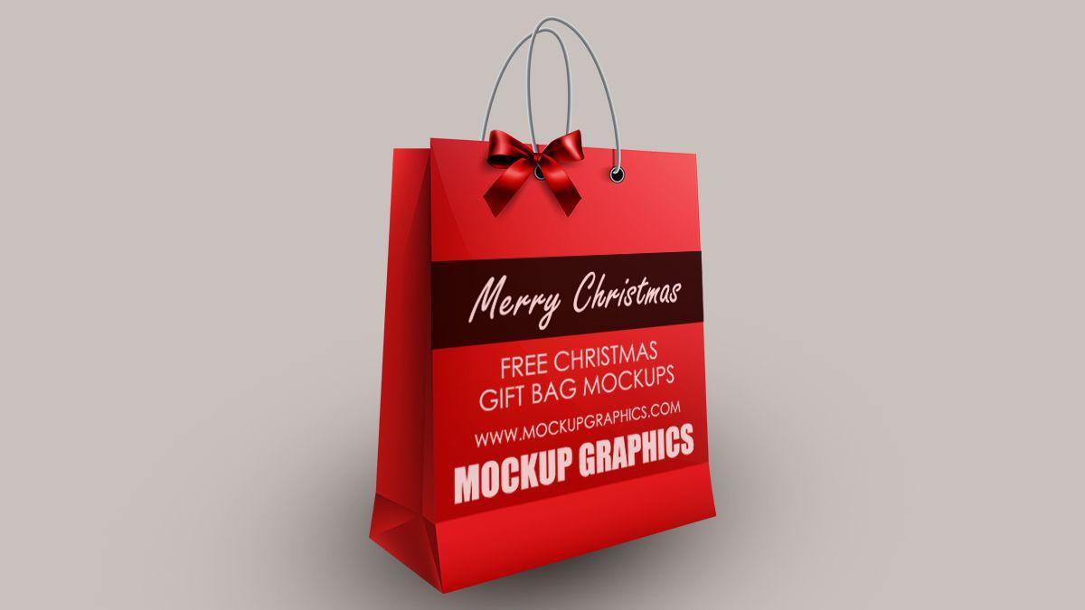 Download Christmas Gift Bag Mockup Psd Free Christmas Gift Bags Bag Mockup Free Christmas Gifts