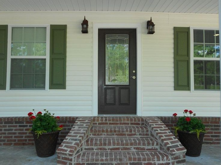 Image Result For What Color Door With Dark Green Shutters
