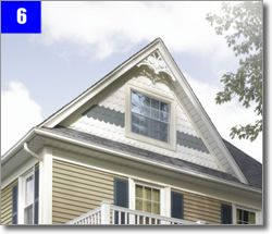Fish scale shingles architectural google search house for Fish scale shingles