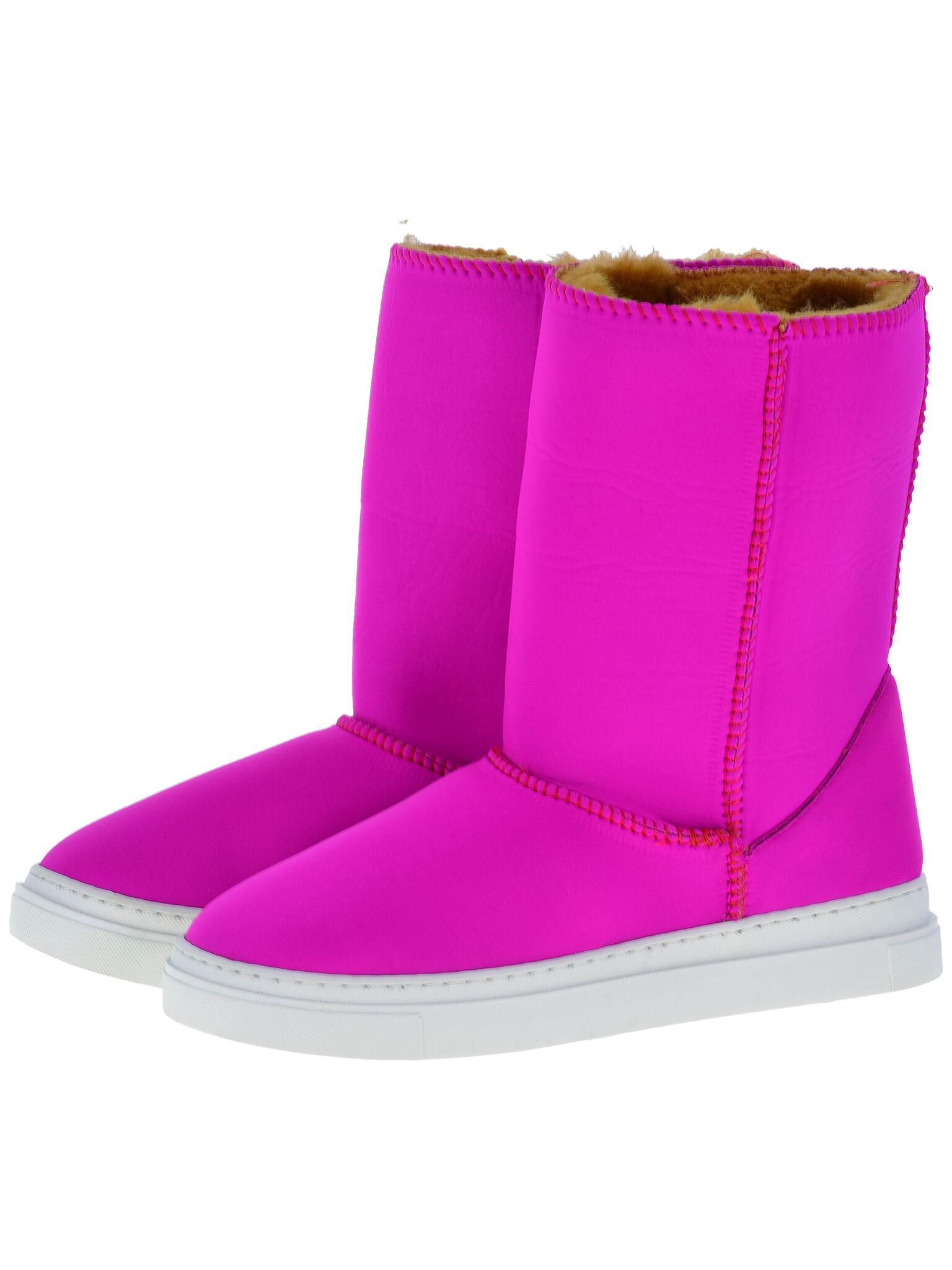 Everest Air Neo-Fuchsia Adele boots. Scuba Neoprene Fabric, faux-fur lining, warm and comfort guaranteed.