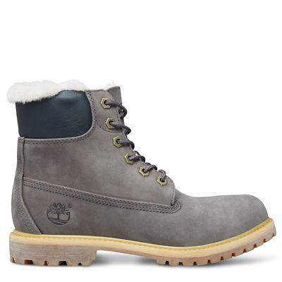 Women's Icon 6-inch Shearling Boot Stone Grey   Timberland