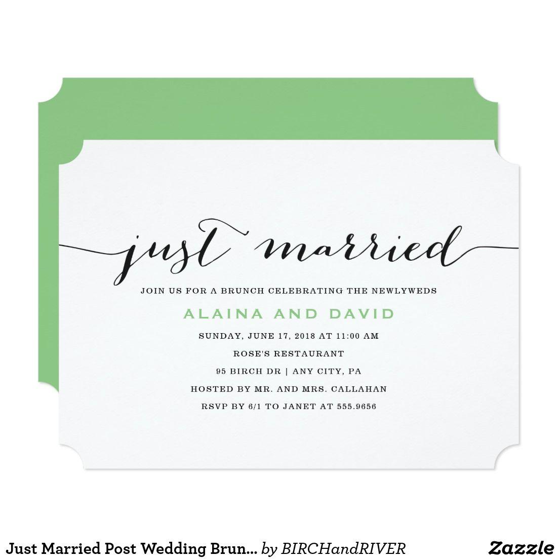 Just Married Post Wedding Brunch Invitation | Pinterest | Brunch ...