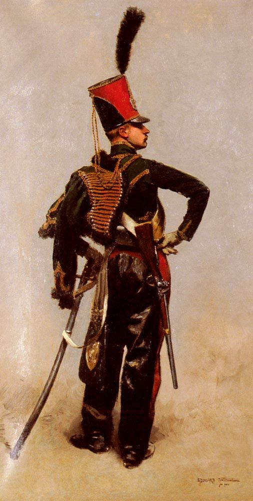 Edouard Detaille French 1848 1912 Another Swaggering Impossible French Cavalry Uniform From This Artist Who Specialised In Hussar Military Art French Army