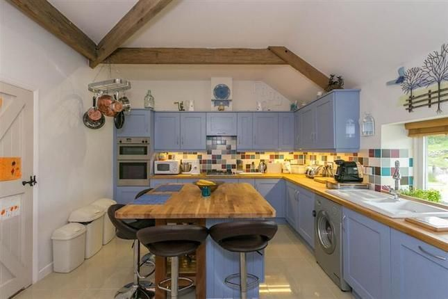 Nice Kitchen  Breakfast  In Blue With Exposed Beams  Shame Prepossessing How Much Do Kitchen Designers Make Decorating Inspiration