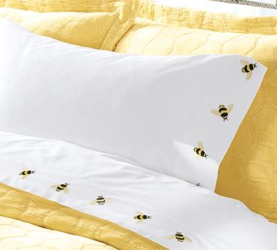 Bee sheets embroidery bed sheets pinterest bees linens and bumble bee sheets how darling junglespirit Images