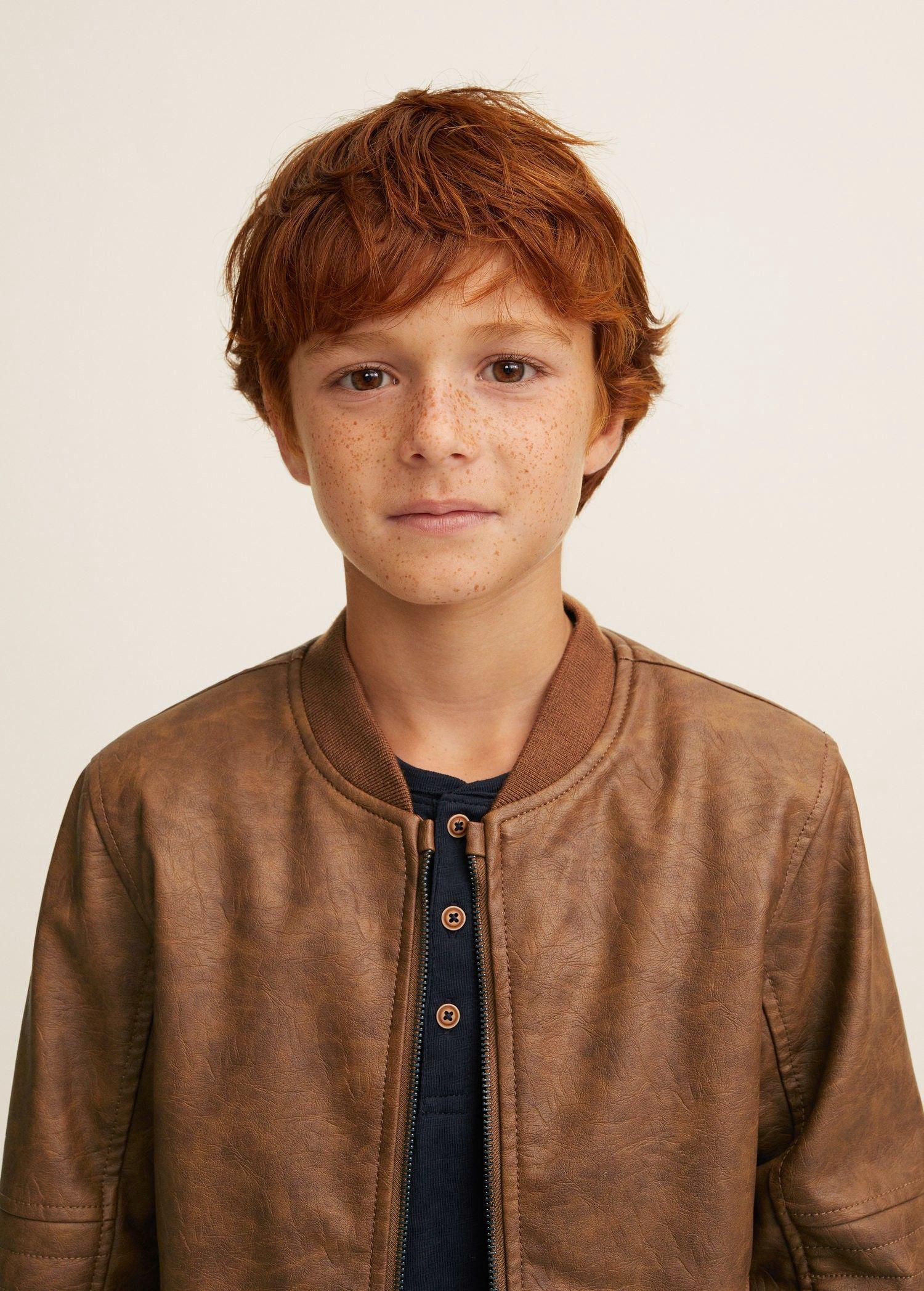 Mango Faux Shearling Bomber Jacket 6 7 Years 122cm Red Head Boy Beauty Of Boys Cute Boys