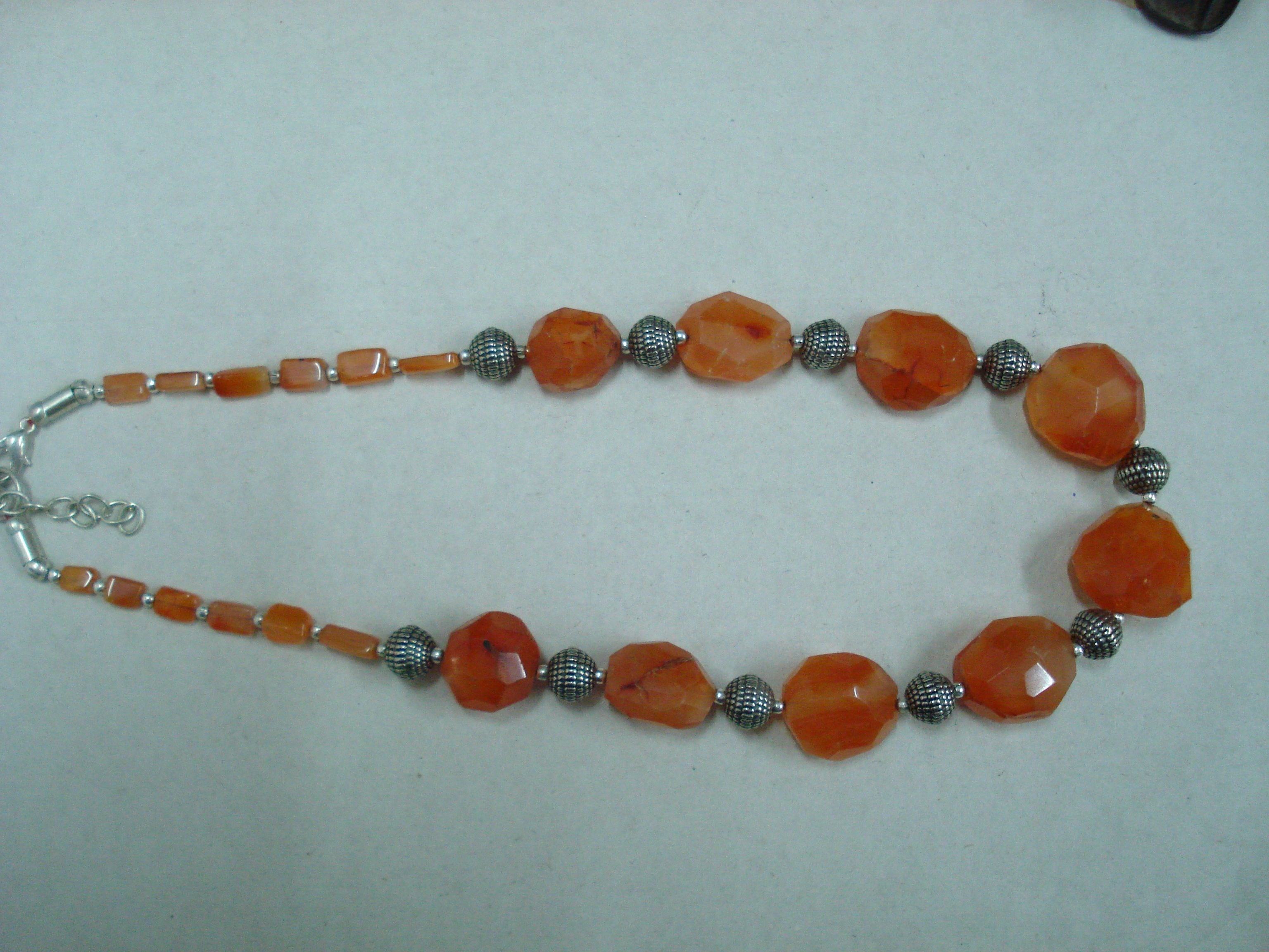 with and necklace products semi earth chalcedony stone stones lariat jewellery precious