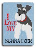 Schnauzer wood sign; art.com