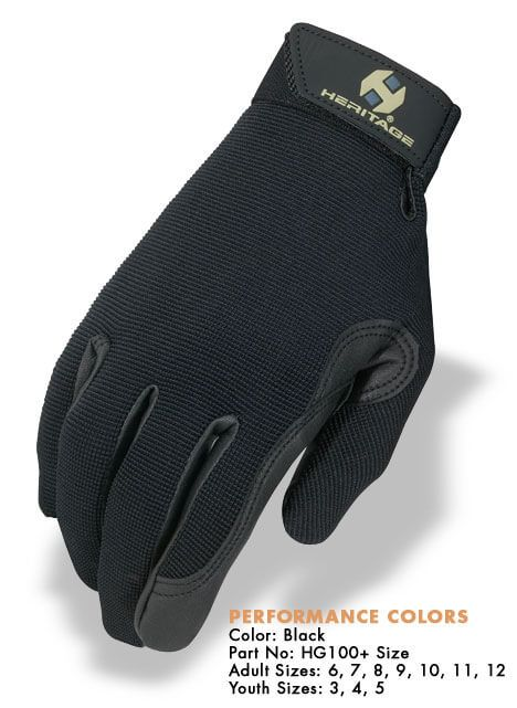 Back on Track Therapeutic Riding Gloves Size 7.5