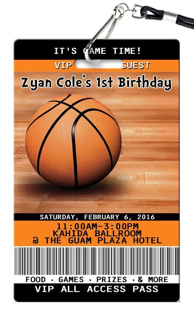 Basketball Birthday Invitation | Basketball birthday, Birthdays and ...
