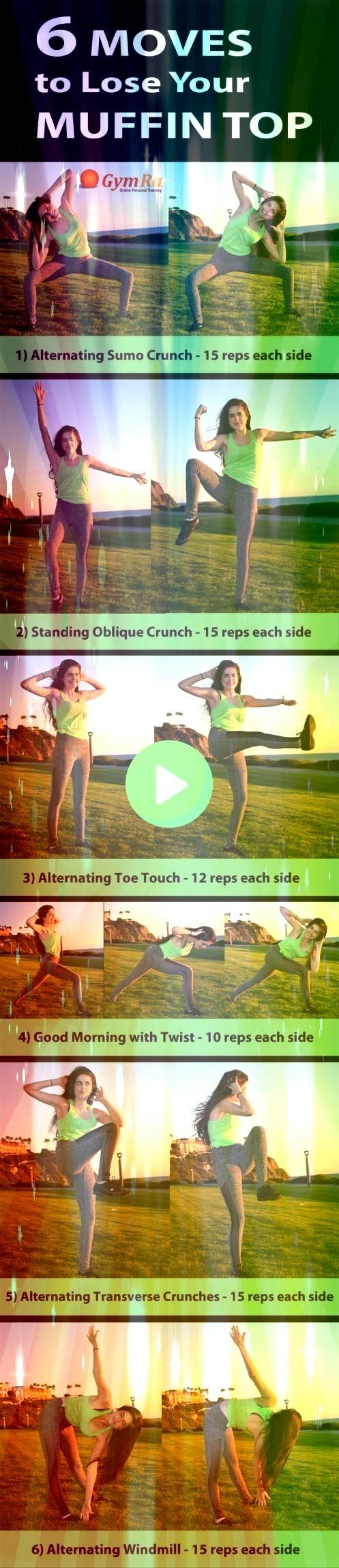 the extra baggageLose the extra baggage Amazing Abs and Core workout for women Have 60 seconds rest in between sets 1 medicine oblique crunch 3 x 15 each side 2 cable obl...