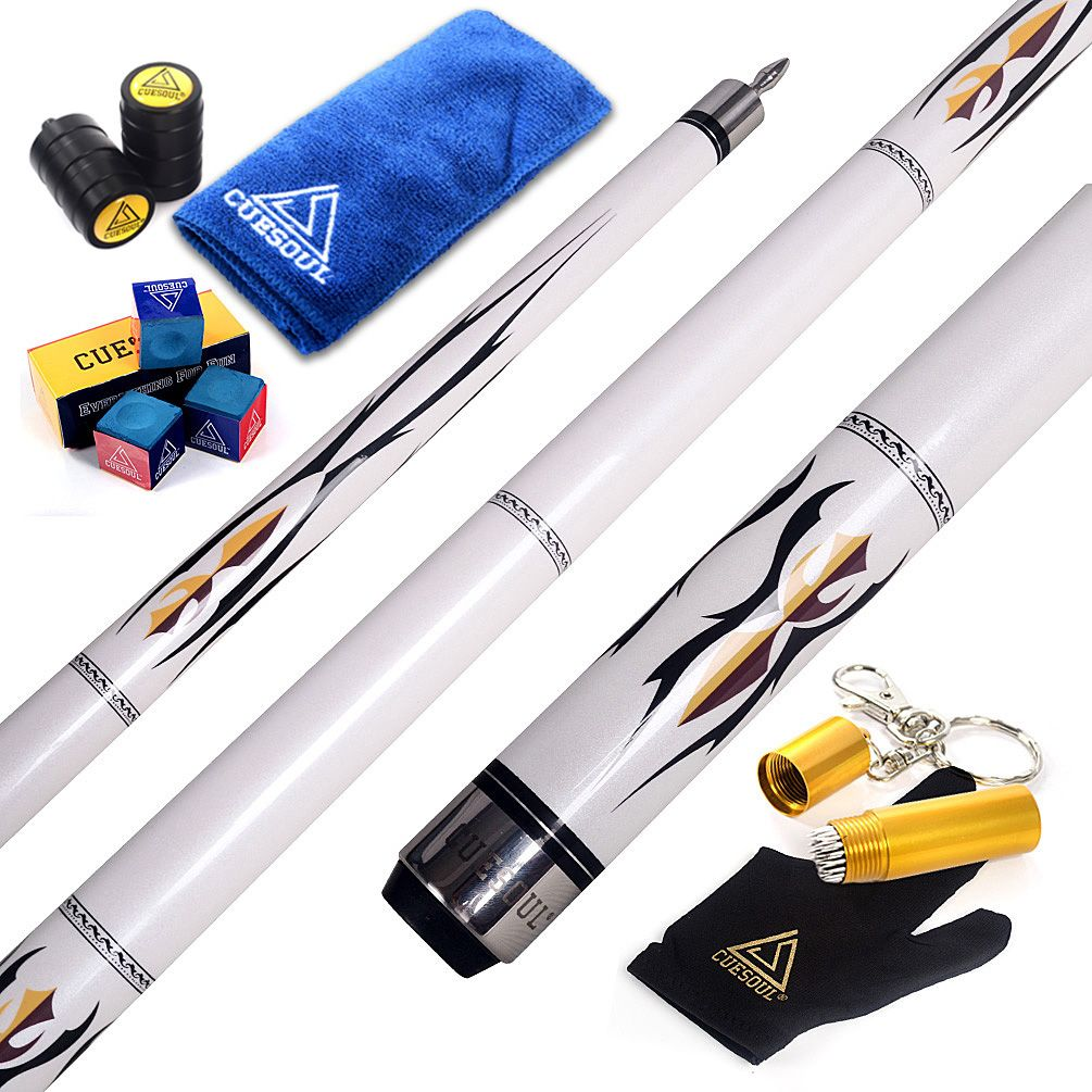 """CUESOUL U101 58"""" 12.75mm Pool Cue Stick With Pearl Paint"""