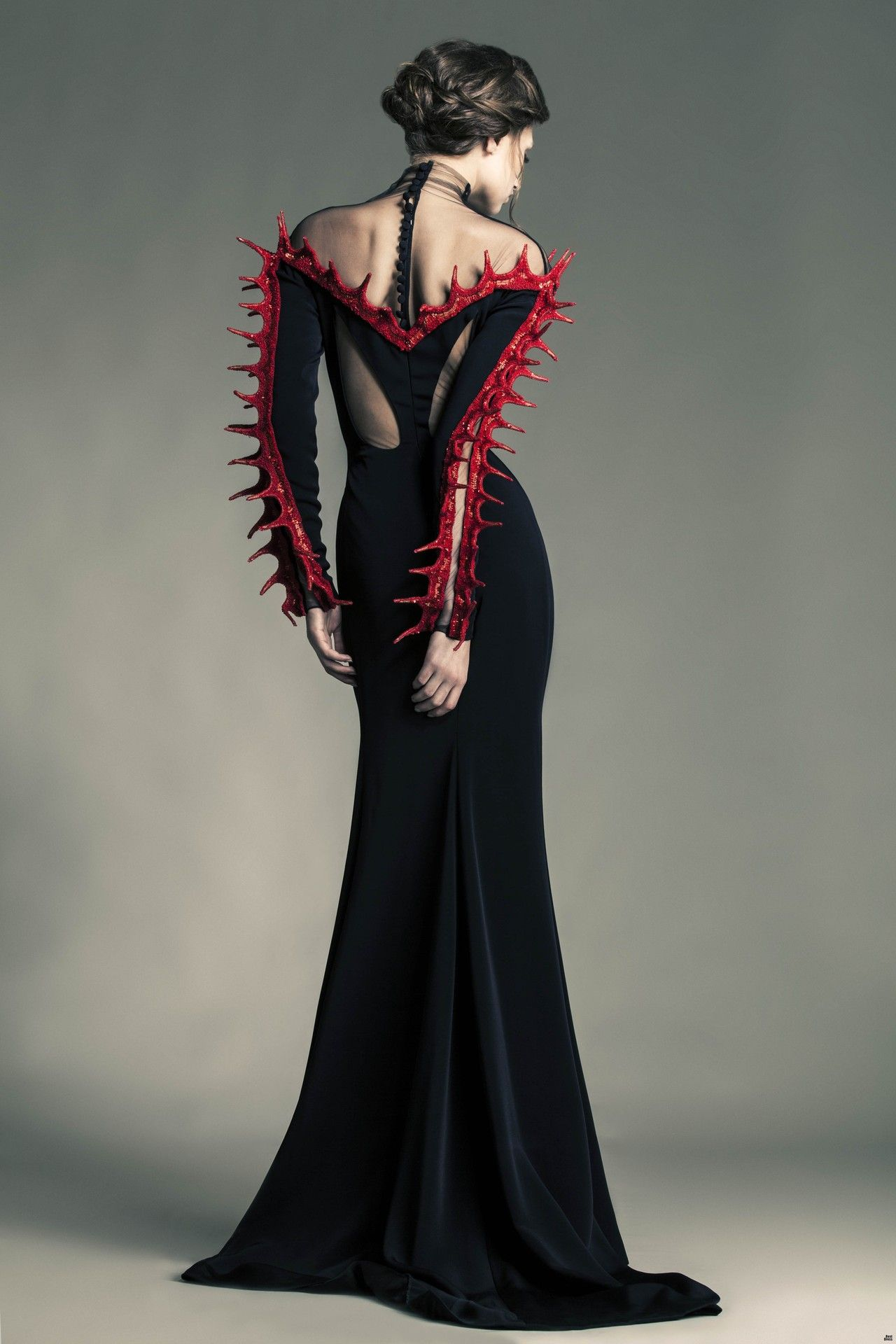 Devil sourcerer evil queen editorial avant garde for High fashion couture dresses