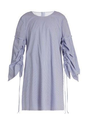Elliot round-neck striped cotton dress | Tibi | MATCHESFASHION.COM US