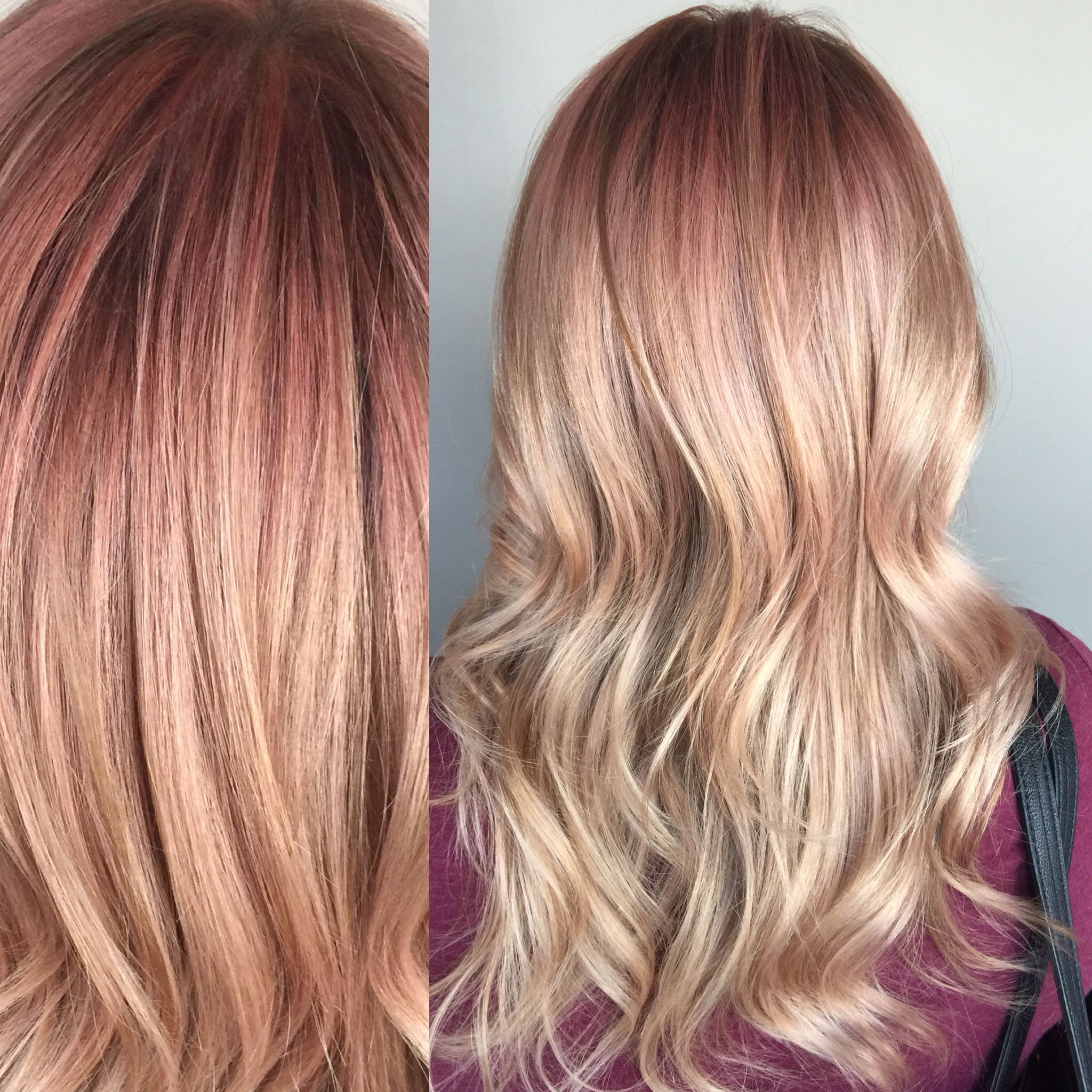 Rose Gold Blonde Prelightened With Redken Flash Lift And Toned With