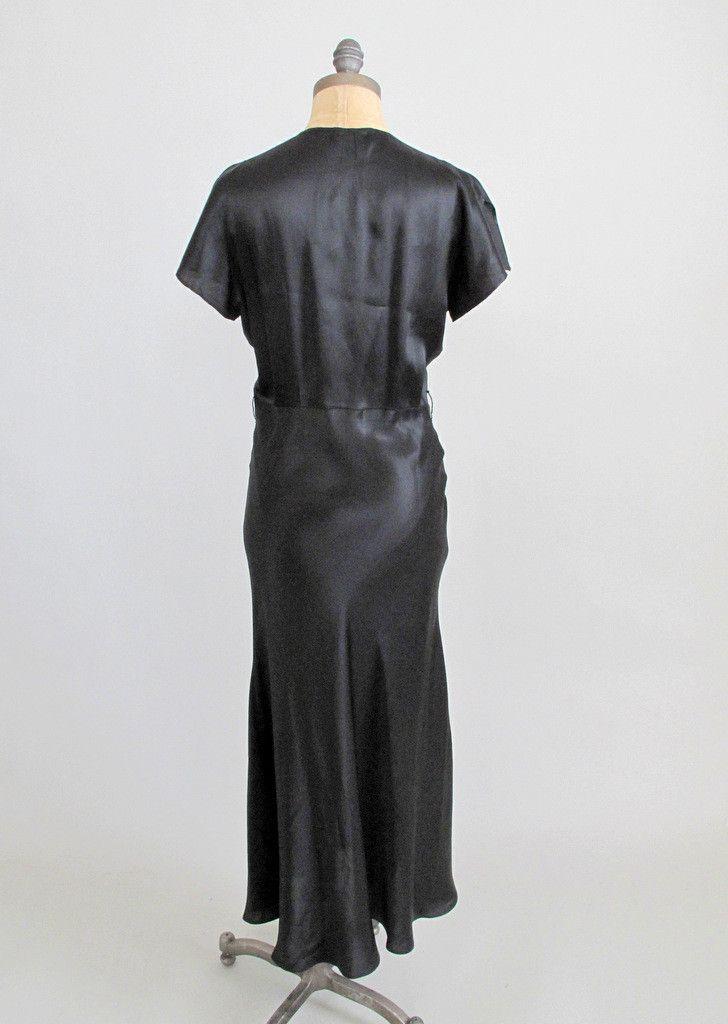 Vintage 1930s Art Deco Evening Dress