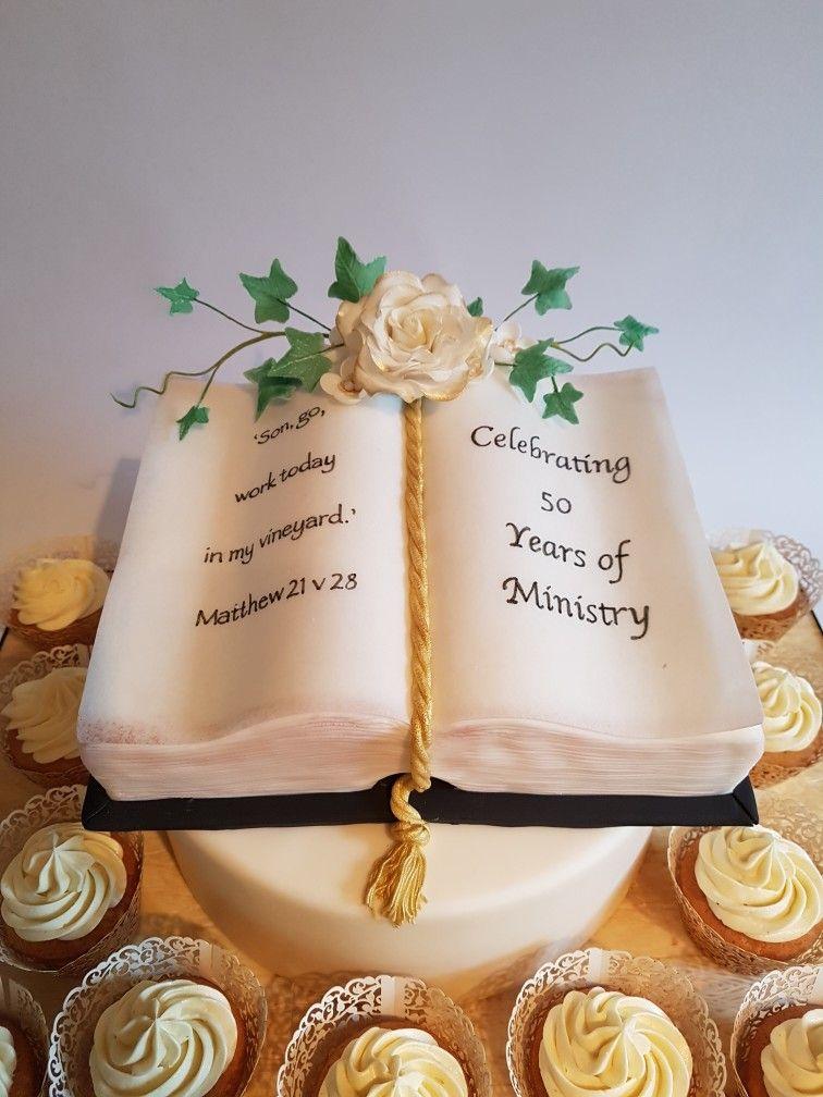 Bible cake ideas | church anniversary | bible with sugar ...