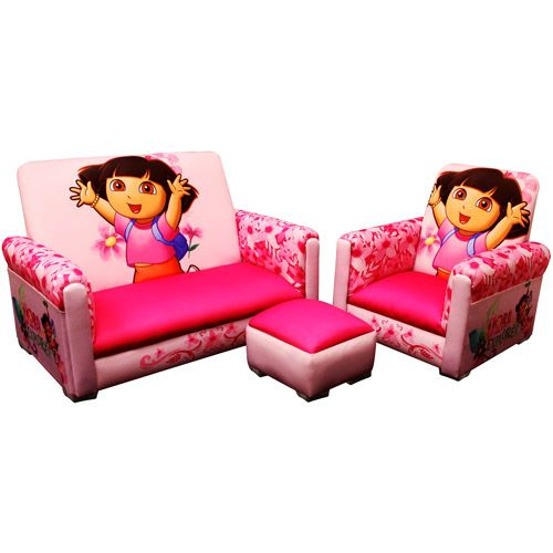 Pleasant Nickelodeon Dora The Explorer Toddler Sofa And Chair Set Pdpeps Interior Chair Design Pdpepsorg