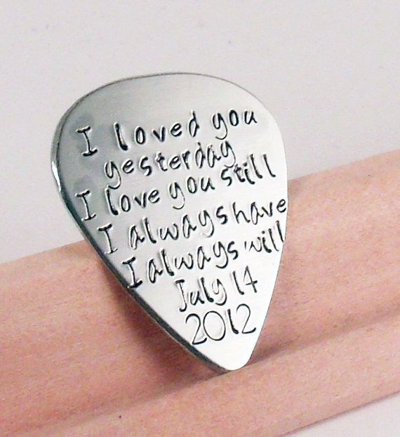Love Quotes Guitar Pick Perfect Gift For A Grooms Wedding Husband Boyfriend Bridesmaid