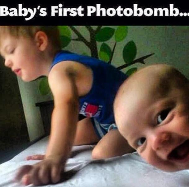 Photobombing... It starts early.