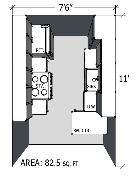 Small Kitchen Layout Close To Our Dimensions Kitchen Floor
