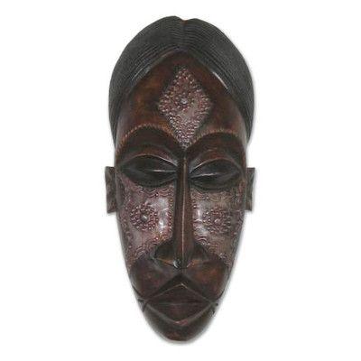 Novica Teen Beauty Wood Mask Wall Décor