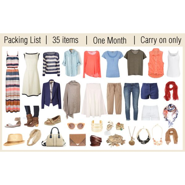 Packing list - Polyvore