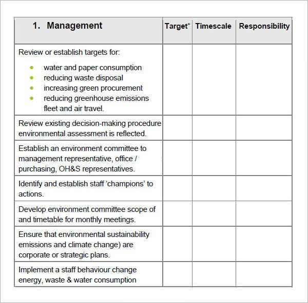 Excellent Table Template Of Target And Timescale And Responsibility