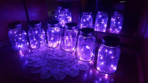 Mason Jar Solar Lid Light Purple Angel Lights Firefly Lights Solar Mason Jar Mason Jar Light Fairy Lights Mason Jar Solar Lid Solar Mason Jars Mason Jars Solar Fairy Lights