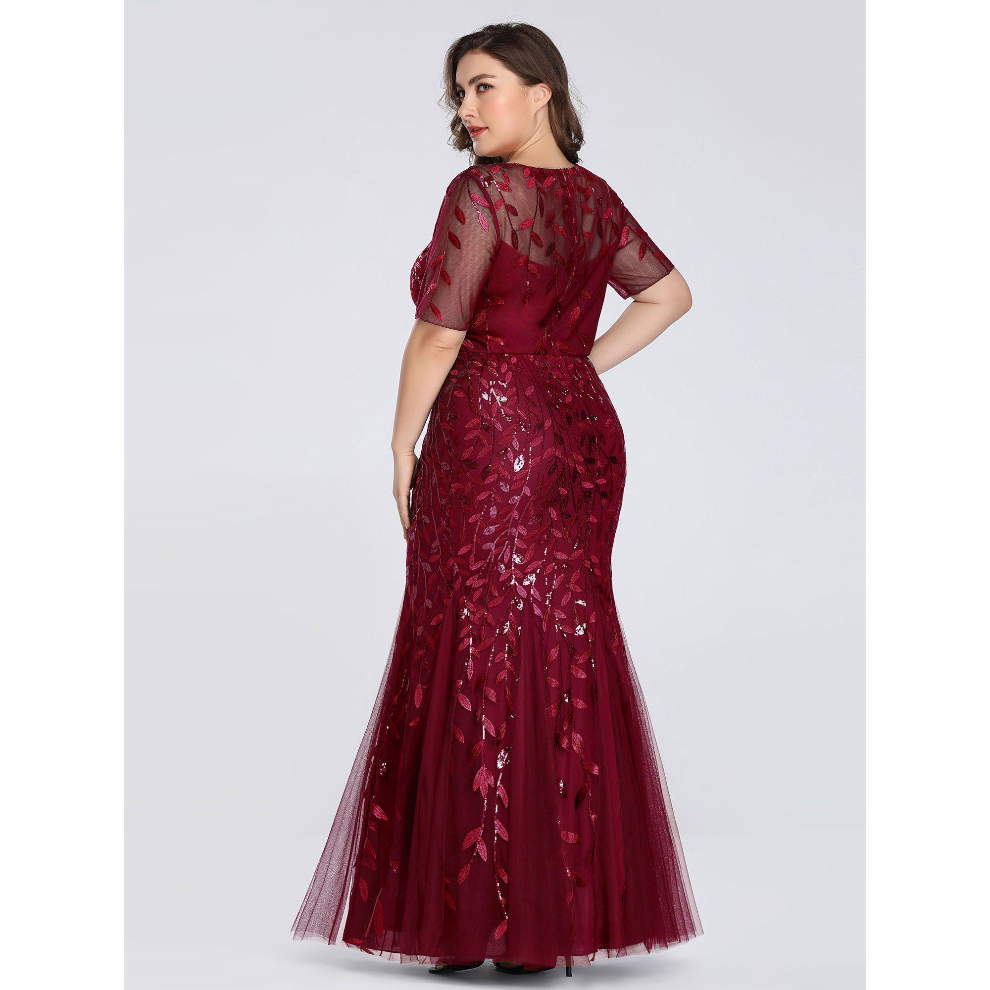 Ever Pretty Ever Pretty Womens Plus Size Long Evening Party Dresses For Women 77072 Burgundy Us18 In 2021 Long Party Gowns Evening Dresses Mermaid Evening Dresses [ 2000 x 2000 Pixel ]