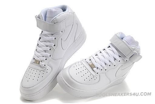 online store 121ad 8df8e Nike Air Force 1 High 07 All White Leather   belize   Nike ...